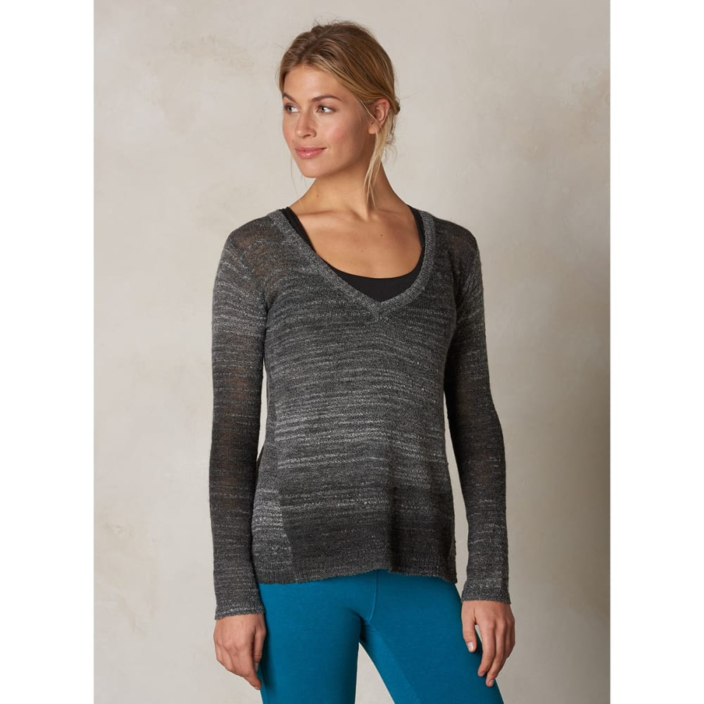 PRANA Women's Julien Sweater - CHARCOAL