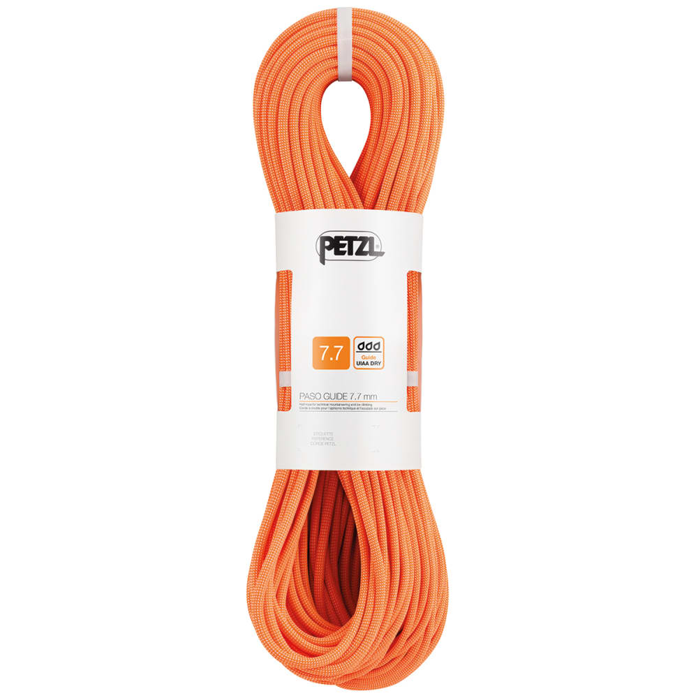 PETZL 7.7mm x 70m Paso Guide Climbing Rope - ORANGE
