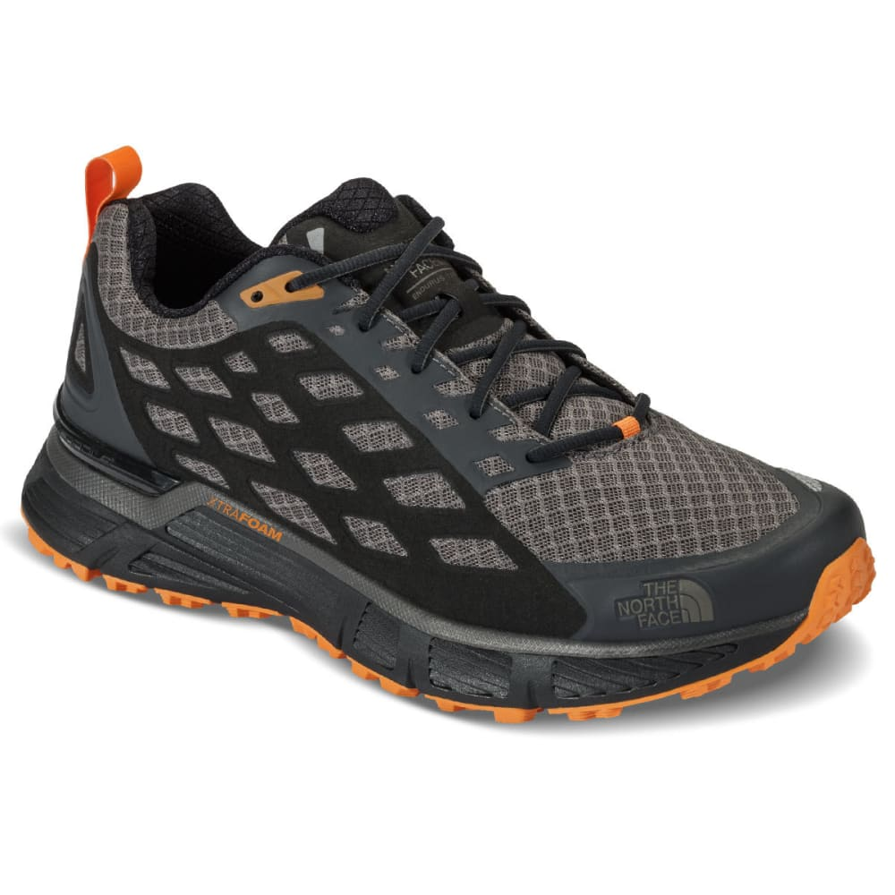 THE NORTH FACE Men's Endurus TR Running Shoes, Dark Gull Grey/Orange - DARK GULL GREY