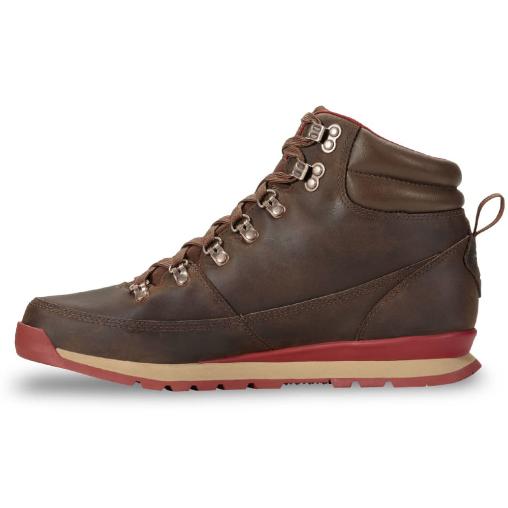 0cee57e9e THE NORTH FACE Men's Back-To-Berkeley Redux Leather Waterproof Mid Hiking  Boots, Carafe Brown/Red
