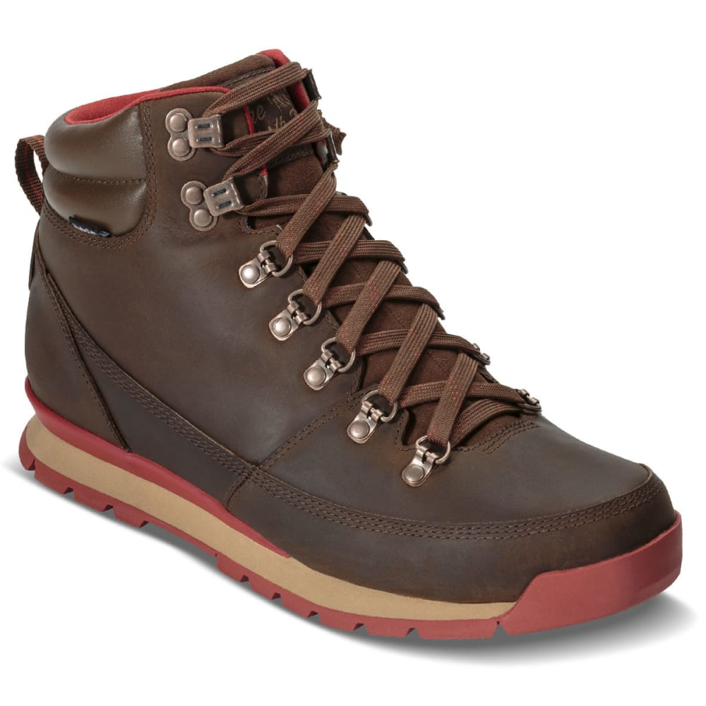 THE NORTH FACE Men's Back-To-Berkeley Redux Leather Waterproof Mid Hiking Boots, Carafe Brown/Red - CARAFE BROWN