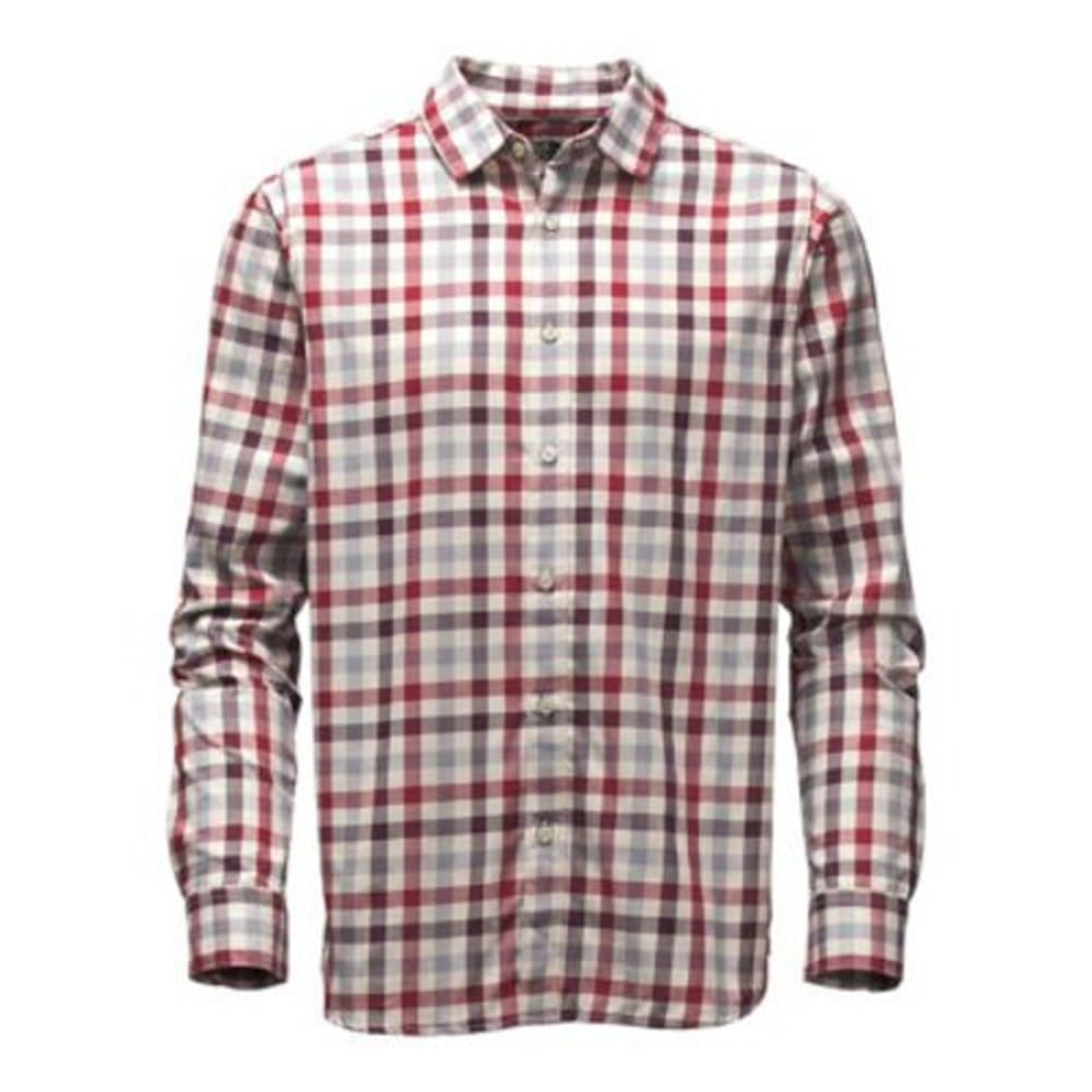 THE NORTH FACE Men's Long-Sleeve Hayden Pass Shirt - E2J-BIKING RED PLAID