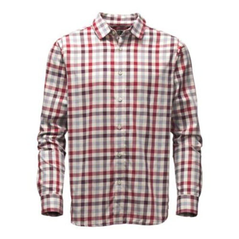 THE NORTH FACE Men's Long-Sleeve Hayden Pass Shirt - E2J-BIKING RED PLAID
