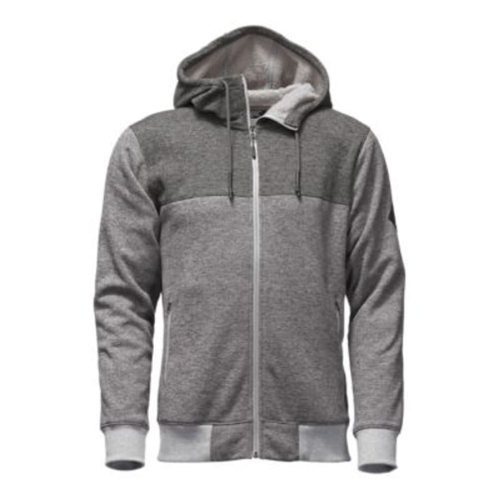 THE NORTH FACE Men's Tech Sherpa Full Zip Hoodie - DYY-TNF MED GRY HTHR