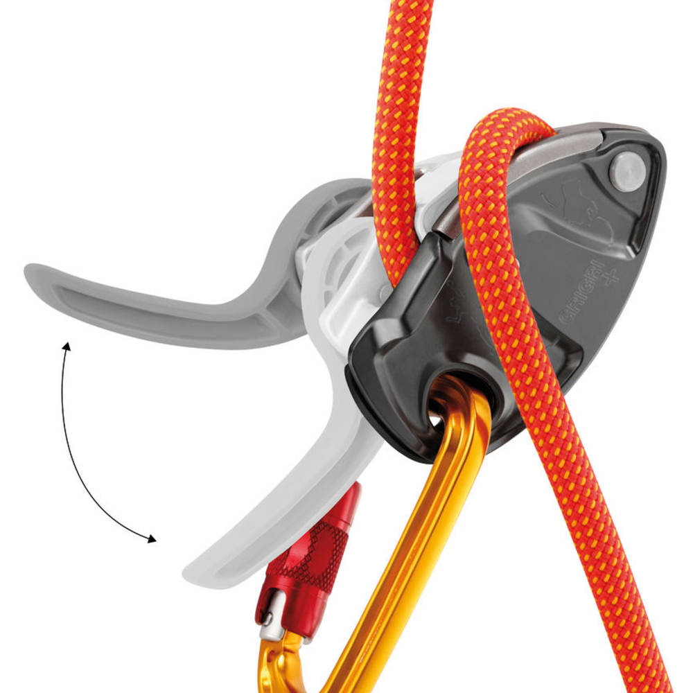 PETZL GRIGRI+ Belay Device - GREY