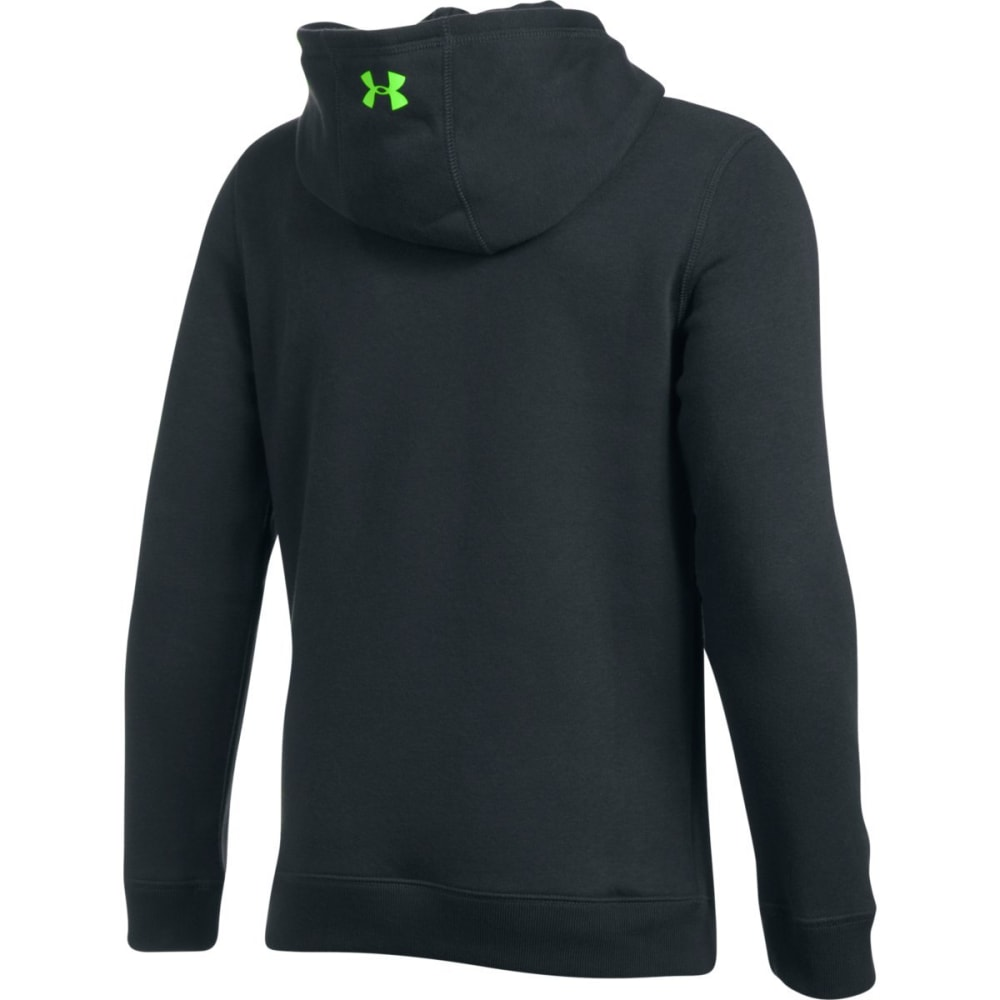 UNDER ARMOUR Big Boys' Rival Fleece Hoodie - 016-ANTHRCITE/QLIME