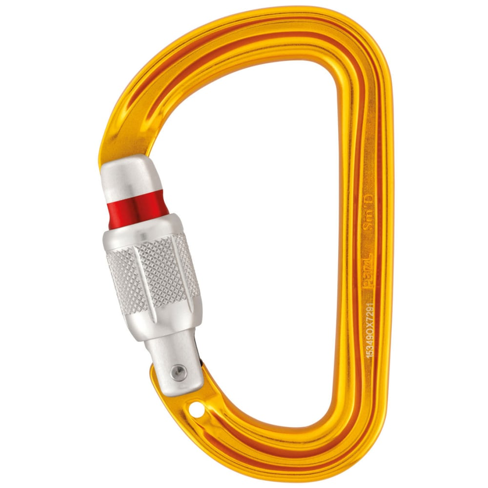 PETZL Sm'D Ultra-light Asymmetrical Carabiner - ORANGE