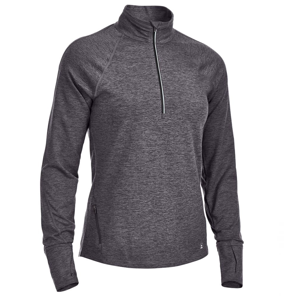 EMS Women's Techwick Transition 1/4-Zip Pullover - COAL HEATHER