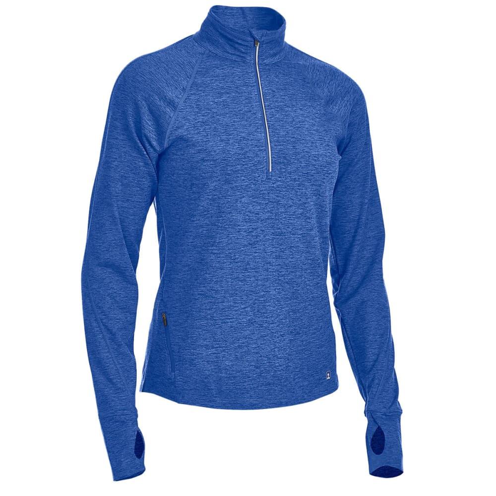 EMS® Women's Techwick® Transition 1/4-Zip Pullover - MAZARINE BLUE HTR