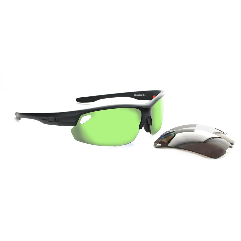 OPTIC NERVE Desoto Flip Off Sunglasses, Matte Black - MATTE BLACK