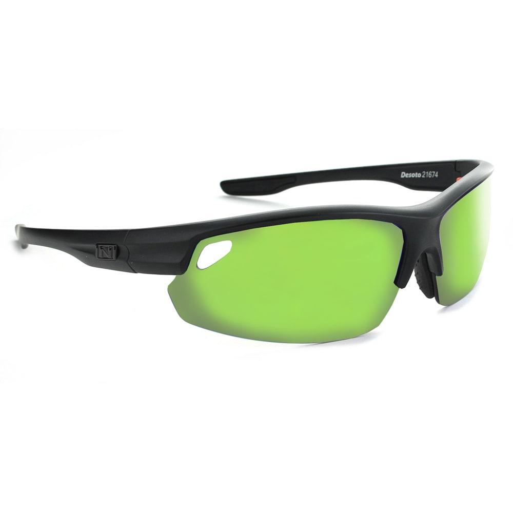 OPTIC NERVE Desoto Flip Off Sunglasses, Matte Black - MATTE BLACK