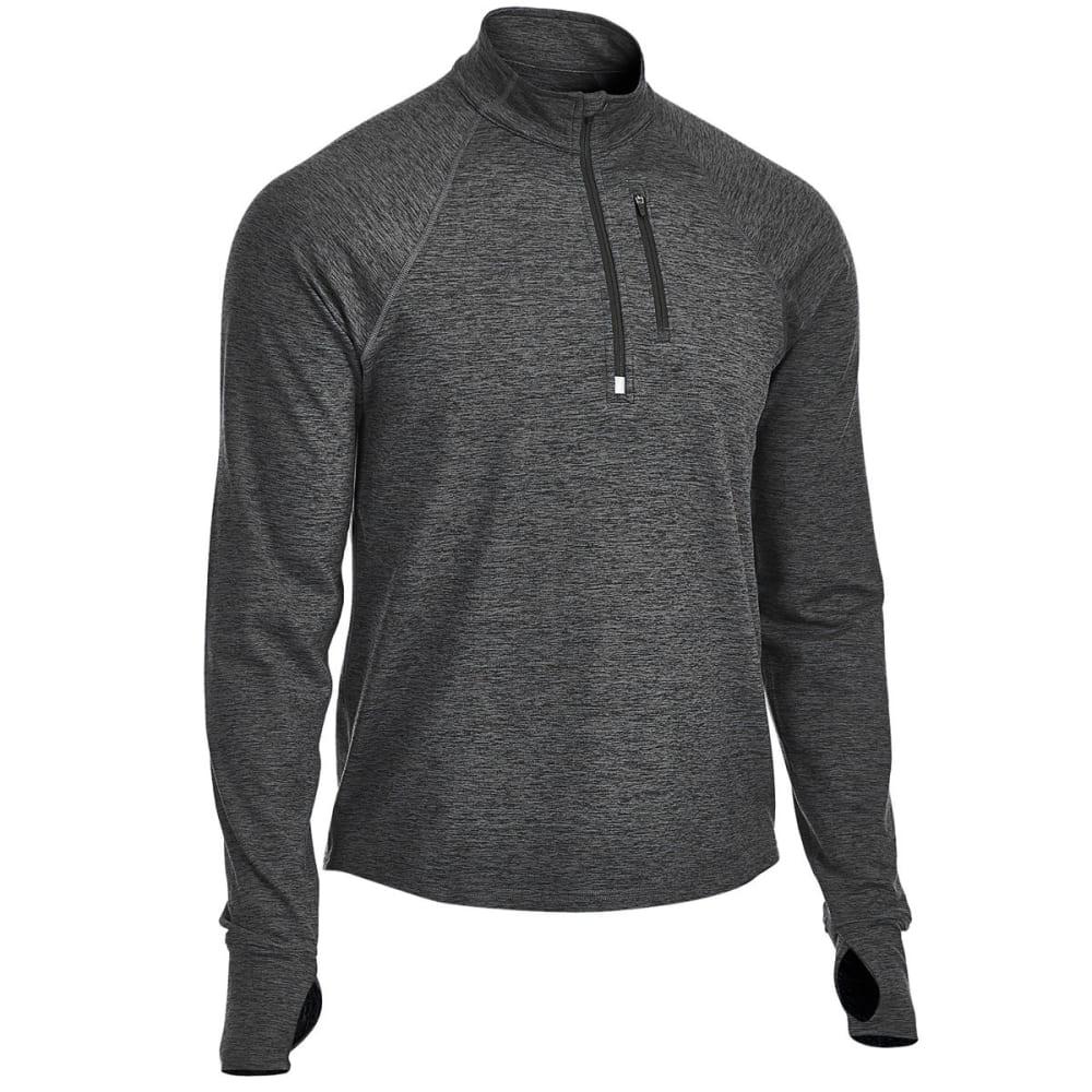 EMS Men's Techwick Transition 1/4-Zip Pullover - COAL HEATHER
