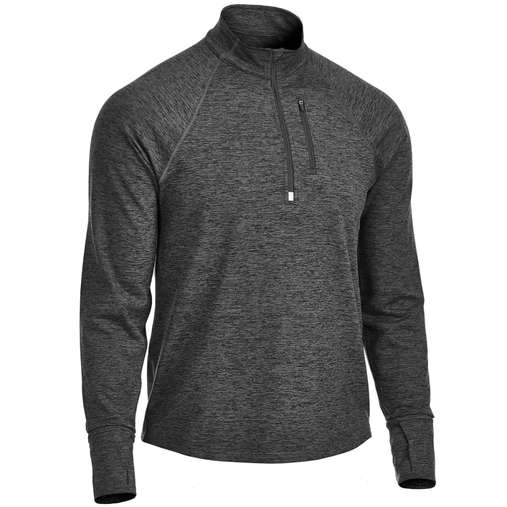 EMS Men's Techwick Transition 1/4-Zip Pullover - COAL HEATHER