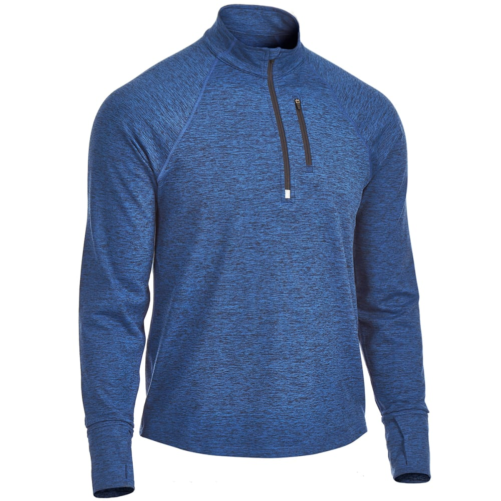 EMS Men's Techwick Transition 1/4-Zip Pullover - ESTATE BLUE HEATHER