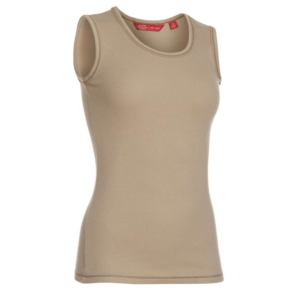 Ems Womens The Rib Tank Top - Brown - Size XL S17W0671