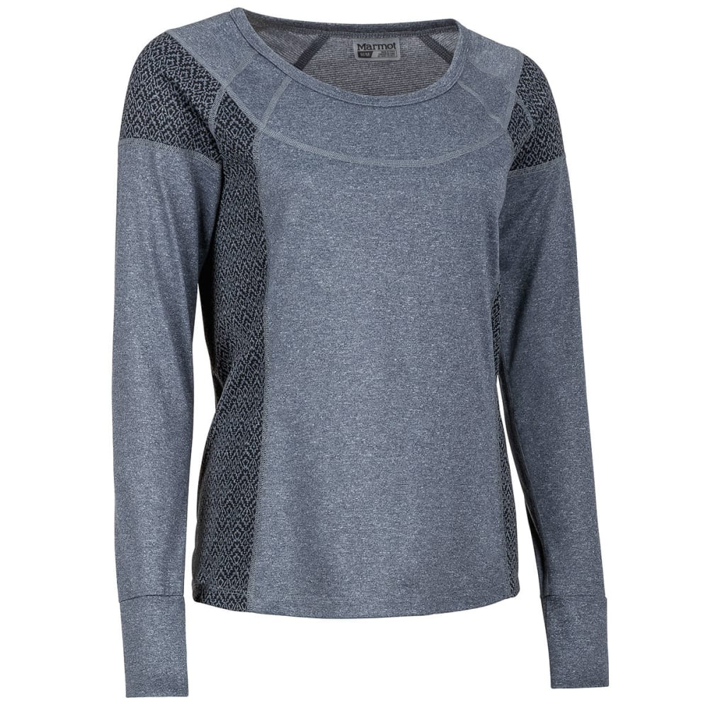 MARMOT Women's Eliza Long-Sleeve Shirt - 1132-DARK STEEL