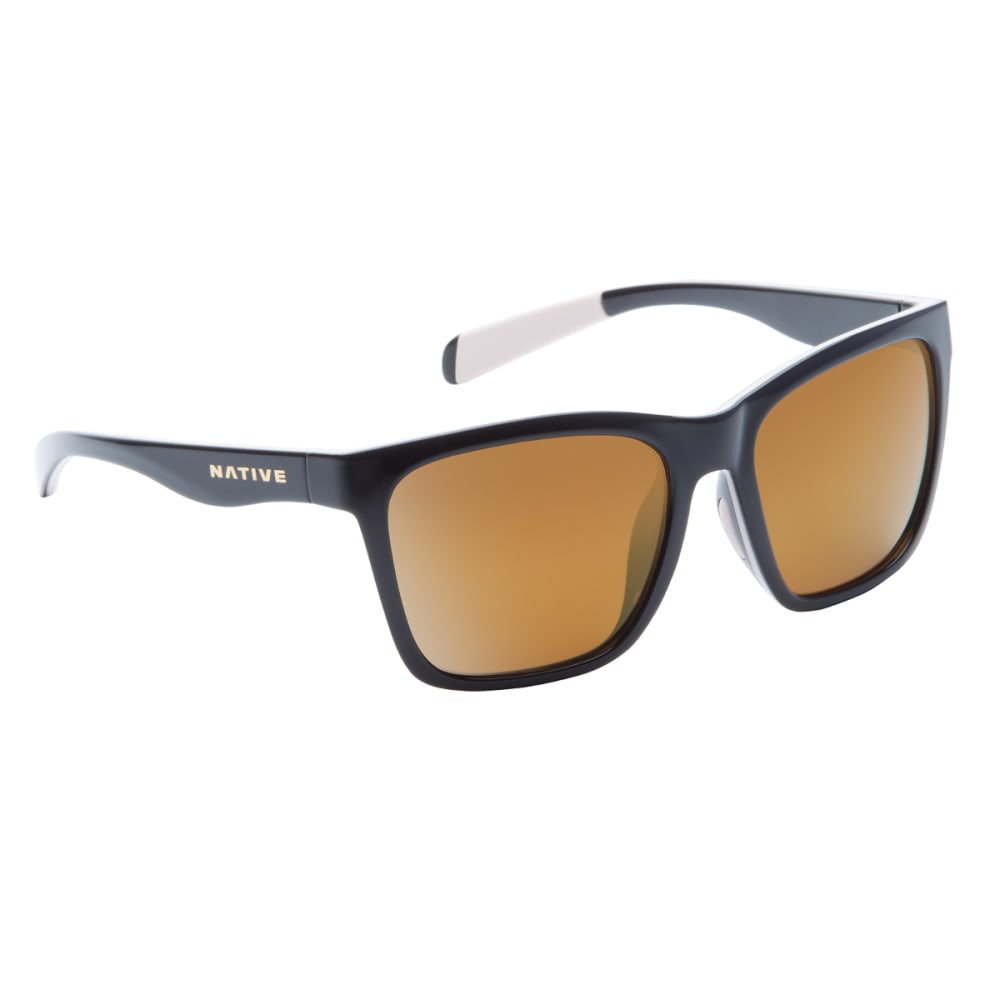 NATIVE EYEWEAR Braiden Sunglasses, Gloss Black, Bronze Reflex lens - BLACK/PINK/BLACK