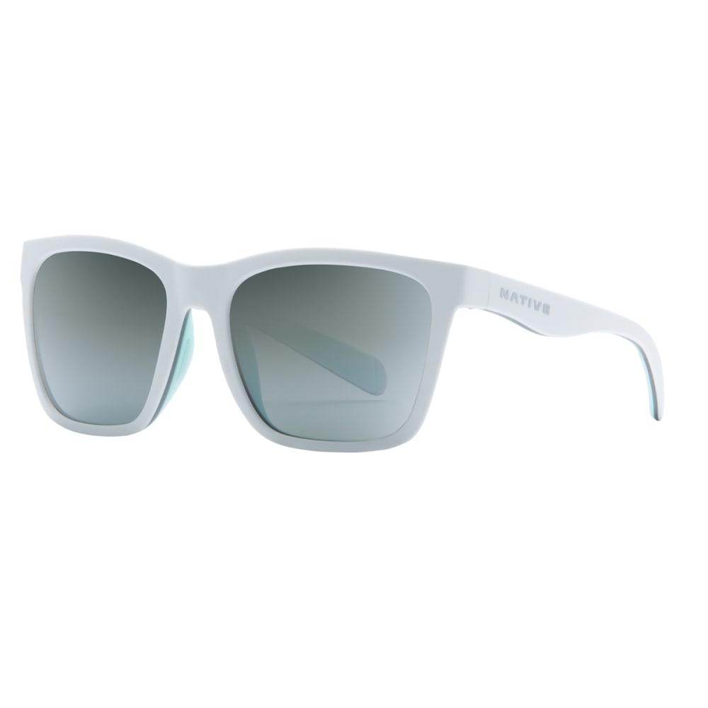 NATIVE EYEWEAR Braiden Sunglasses, Matte White with Silver Lens - WHITE/GREY/MINT