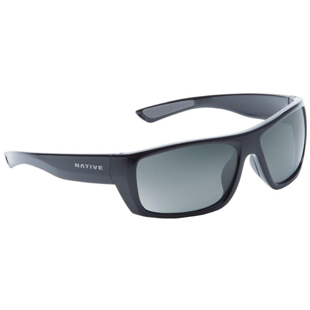 NATIVE EYEWEAR Distiller Sunglasses, Gloss Black/Gray - GLOSS BLACK