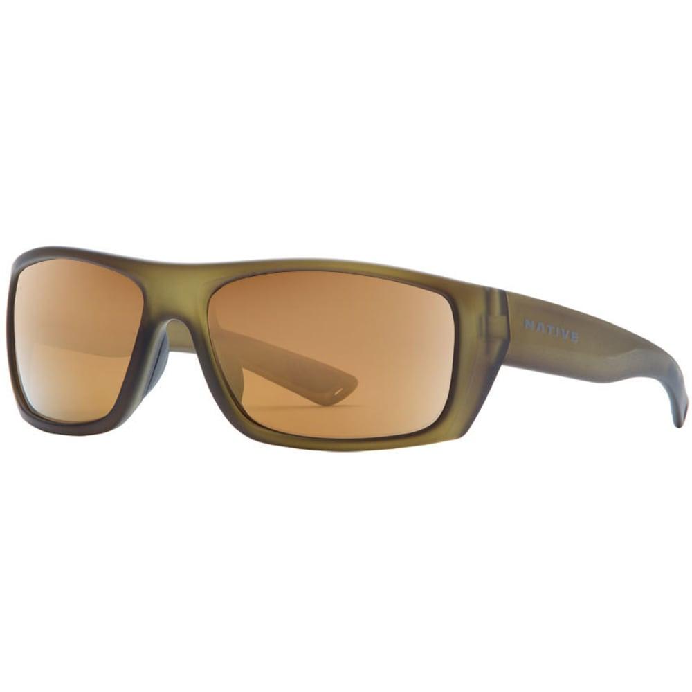 NATIVE EYEWEAR Distiller Sunglasses, Matte Moss/Bronze Reflex NO SIZE