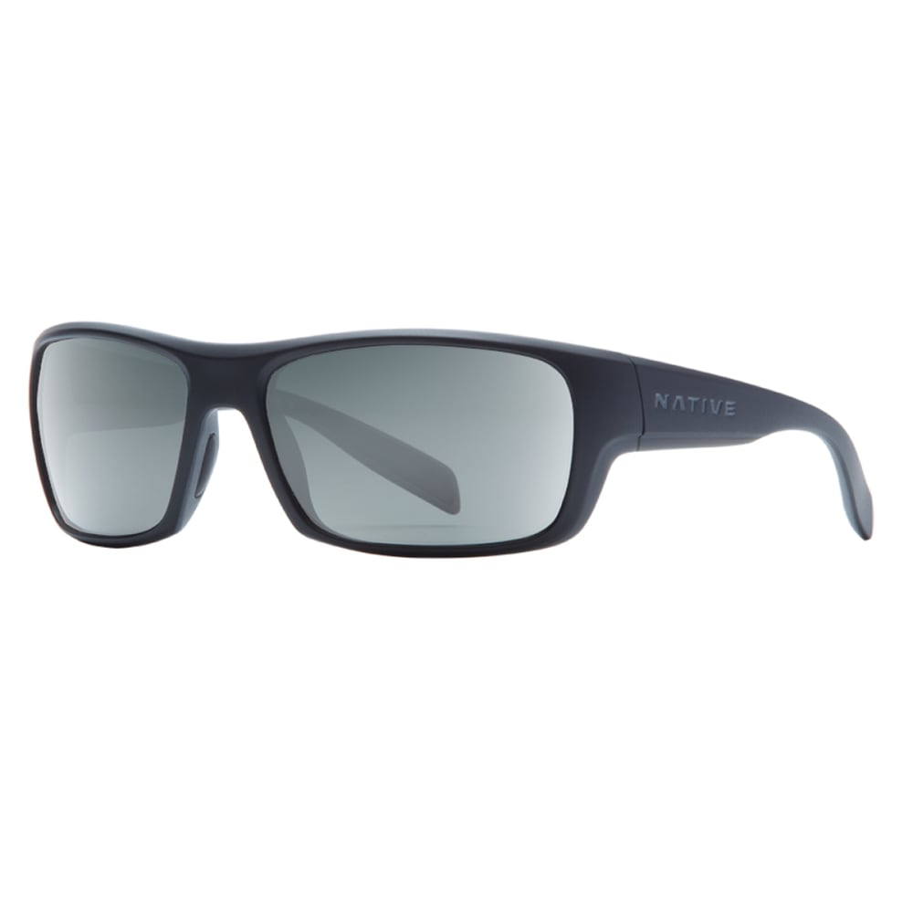 NATIVE EYEWEAR Eddyline Polarized Sunglasses - MATTE BLACK/GRANITE