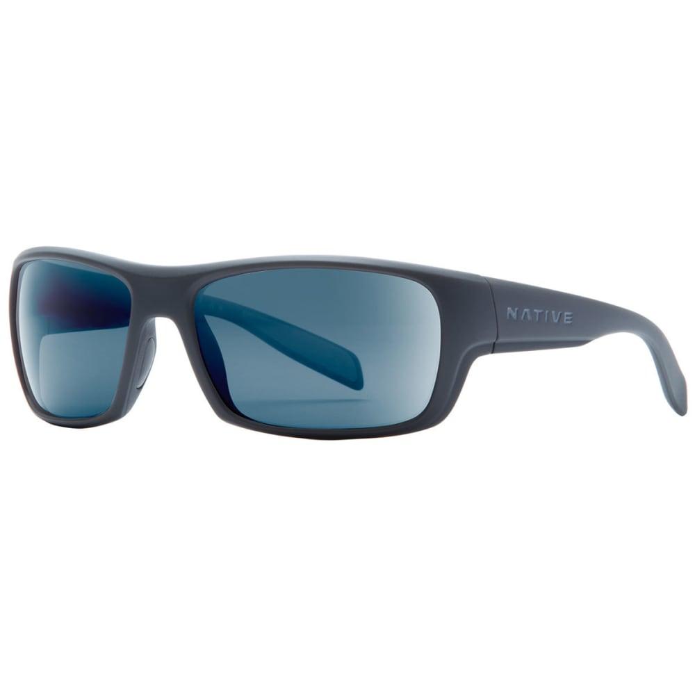 NATIVE EYEWEAR Eddyline Sunglasses Granite/Matte Black, Blue Reflex NO SIZE