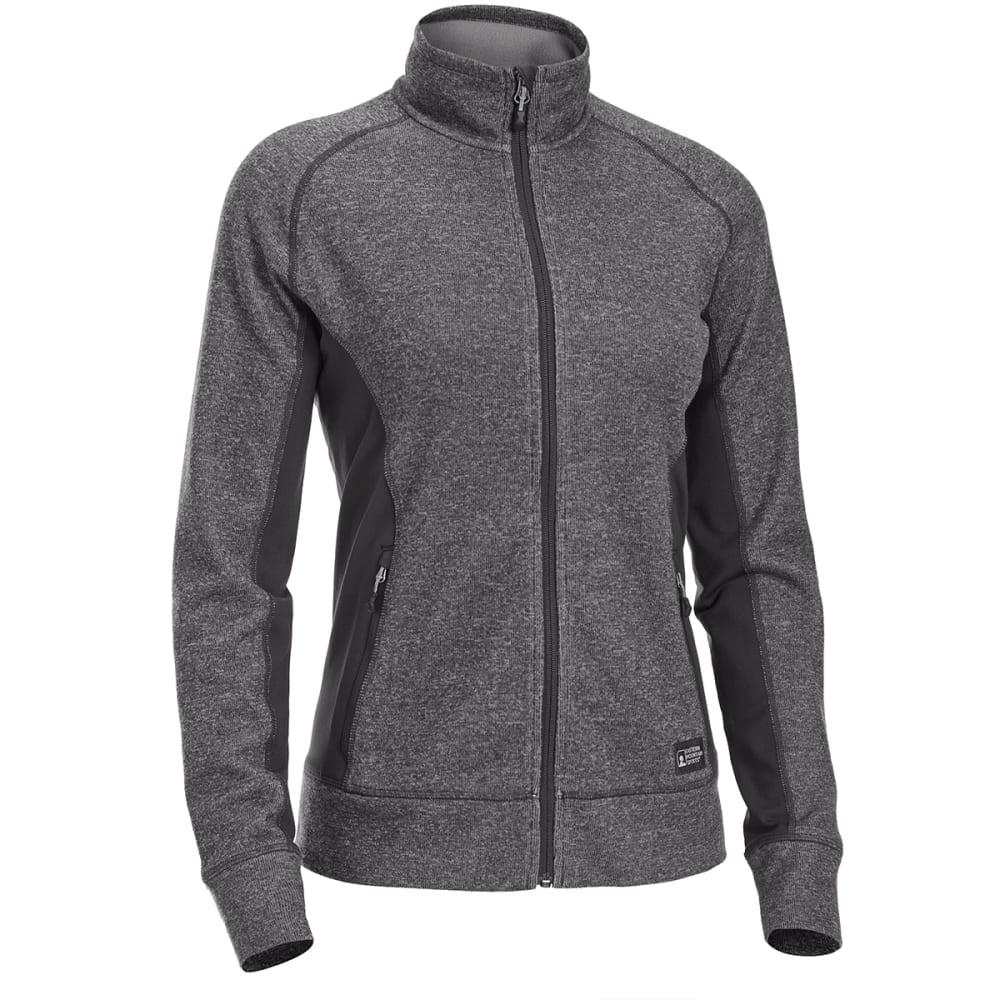 EMS Women's Destination Hybrid Full-Zip Sweater Jacket - BLACK