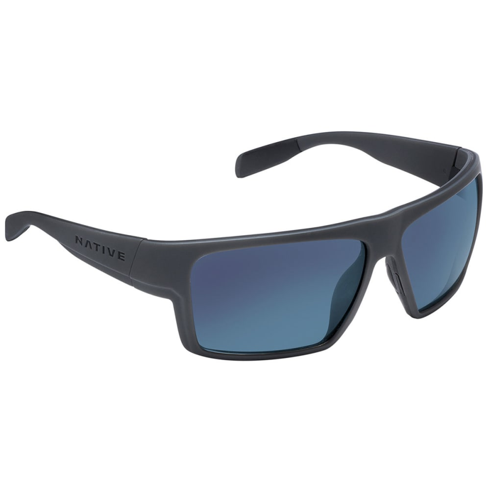 NATIVE EYEWEAR Eldo Sunglasses Granite/Matte Black/Granite, Blue Reflex - GRANITE/BLACK/GRANIT