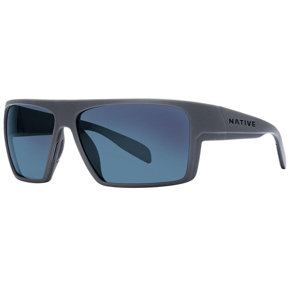 NATIVE EYEWEAR Eldo Sunglasses Granite/Matte Black/Granite, Blue Reflex - GRANITE/BLACK/GRANIT