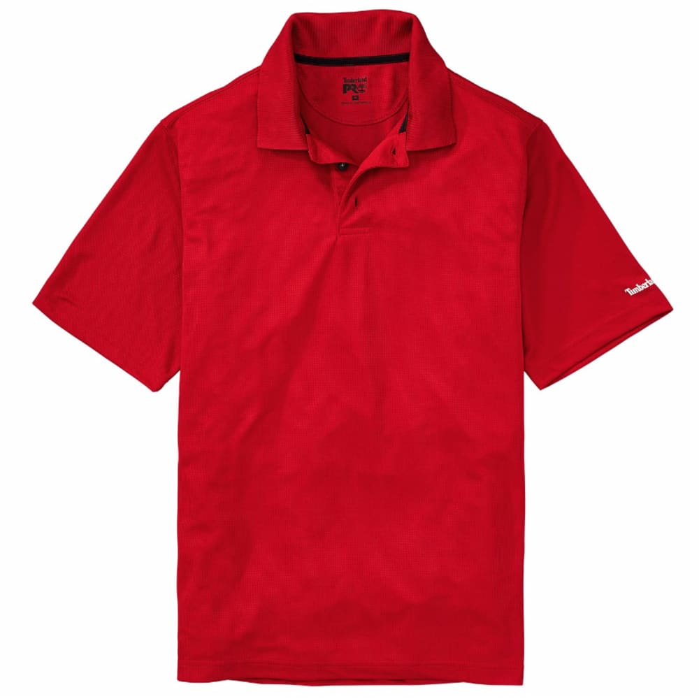 TIMBERLAND PRO Men's Meshin' Around Polo Short-Sleeve Shirt - G98 CLASSIC RED