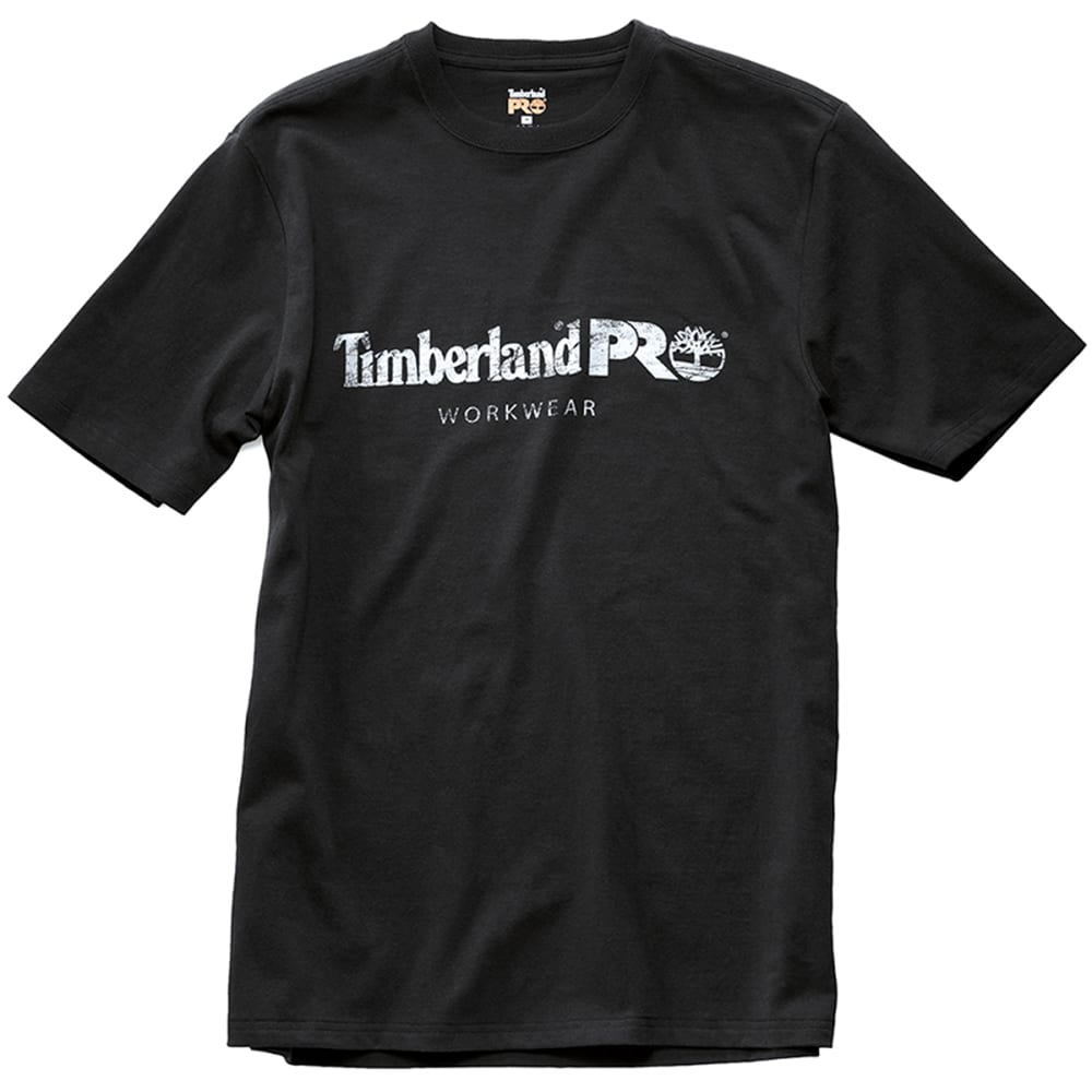 TIMBERLAND PRO Men's Core Cotton Graphic Short-Sleeve Tee - 015 JET BLACK