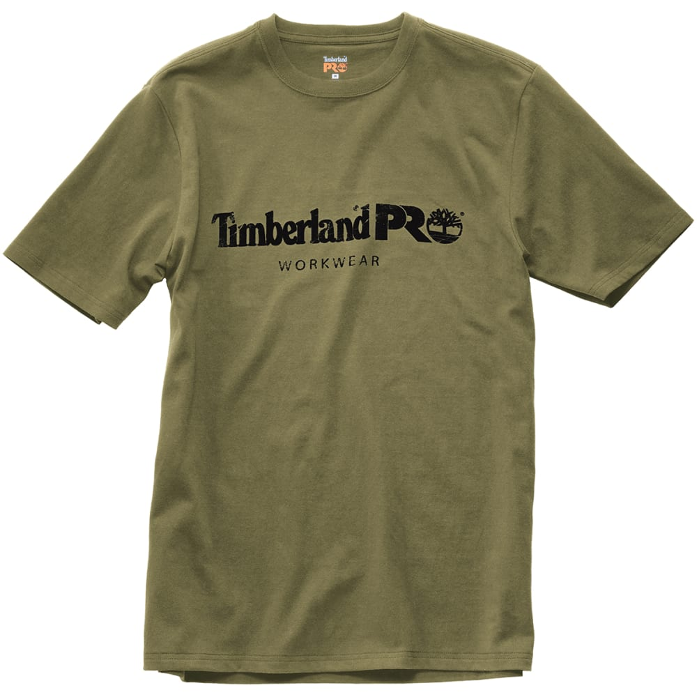 TIMBERLAND PRO Men's Core Cotton Graphic Short-Sleeve Tee - 360 BURNT OLIVE