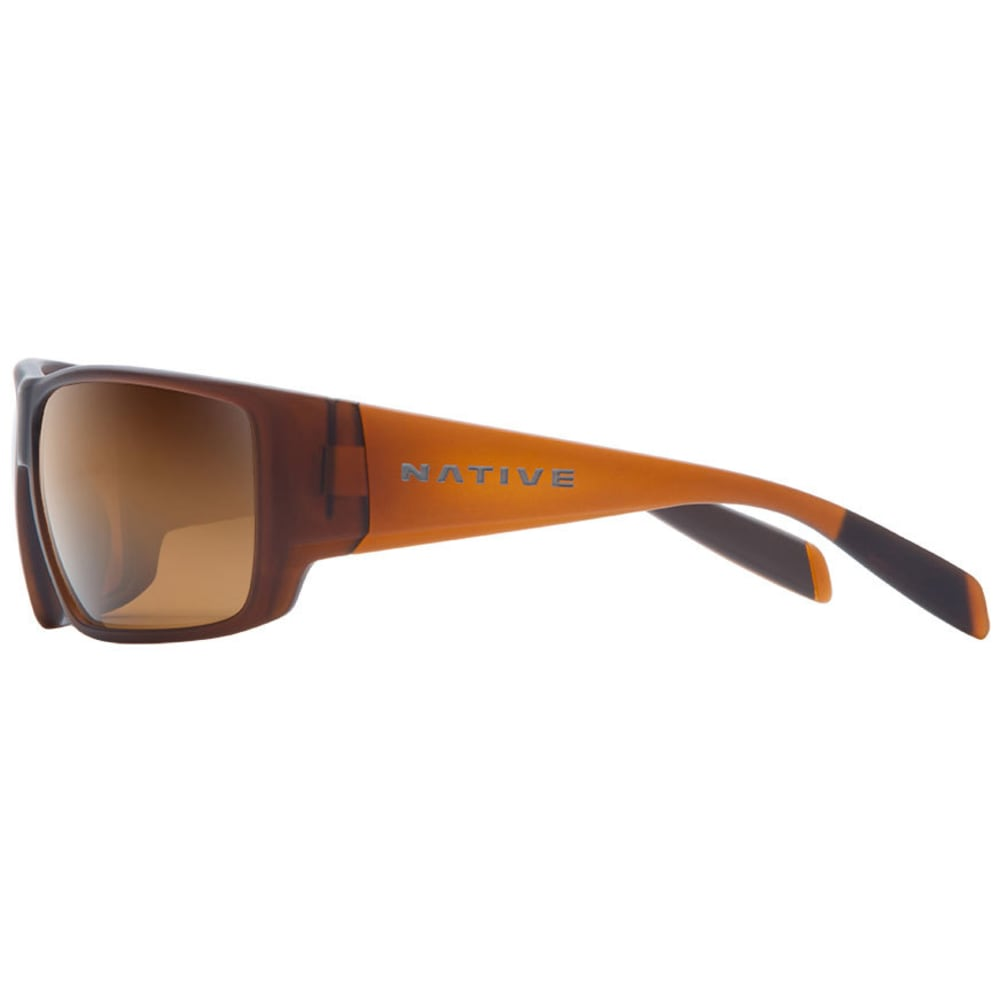 NATIVE EYEWEAR Sightcaster Sunglasses, Matte Brown Crystal/Brown - MATTE BROWN CRYSTAL