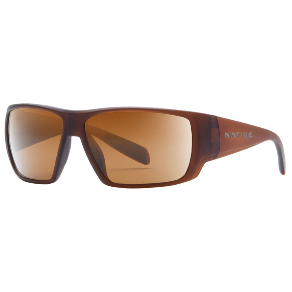 NATIVE EYEWEAR Sightcaster Sunglasses, Matte Brown Crystal/Brown - MATTE BROWN CRYSTAL