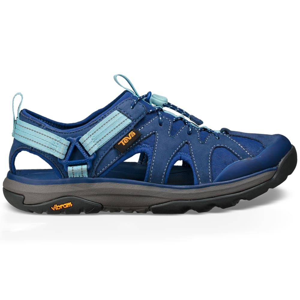 TEVA Women's Terra-Float Active Lace Hiking Sandals, Blue - BLUE