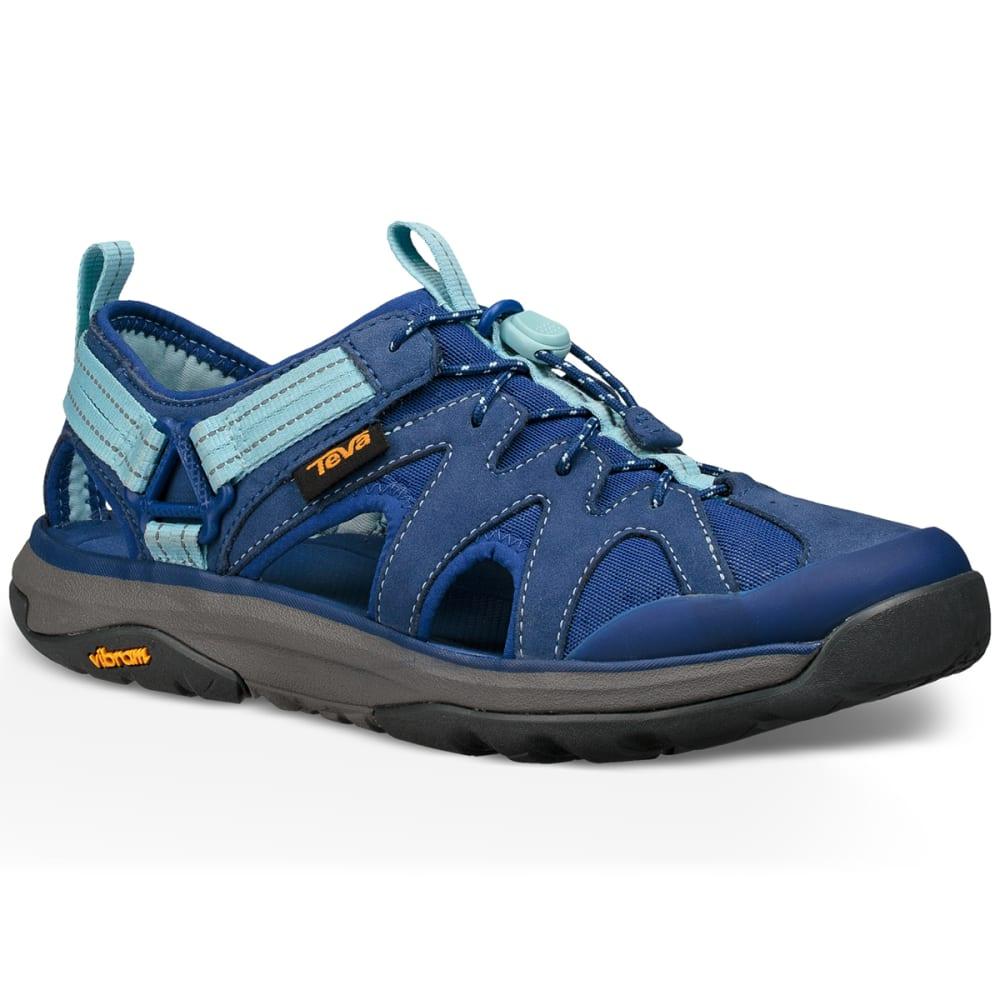 TEVA Women's Terra-Float Active Lace Hiking Sandals, Blue 6