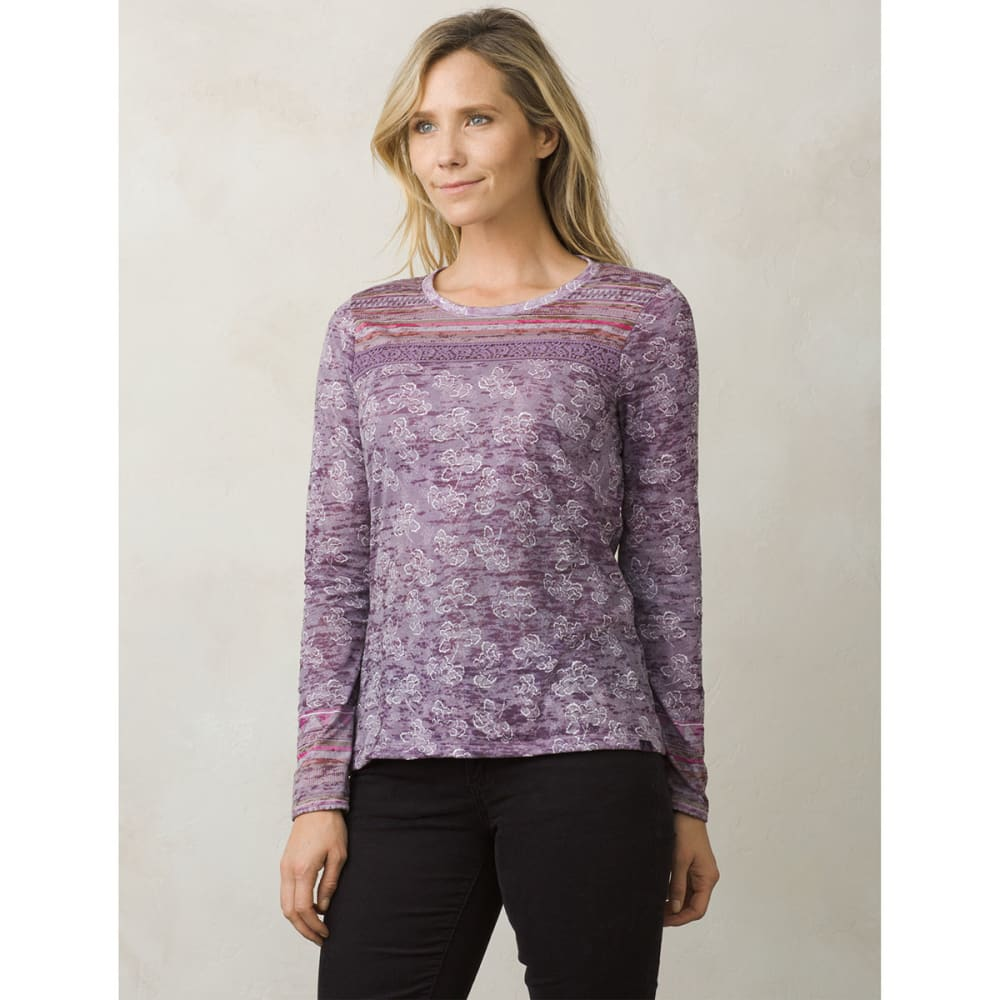 PRANA Women's Tilly Long-Sleeve Top - DARK PLUM WILLOW