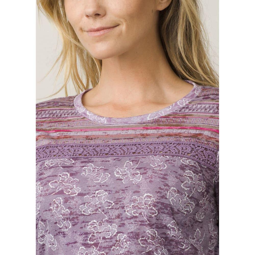 PRANA Women's Tilly Long-Sleeve Top - DARK PLUM WILLOW