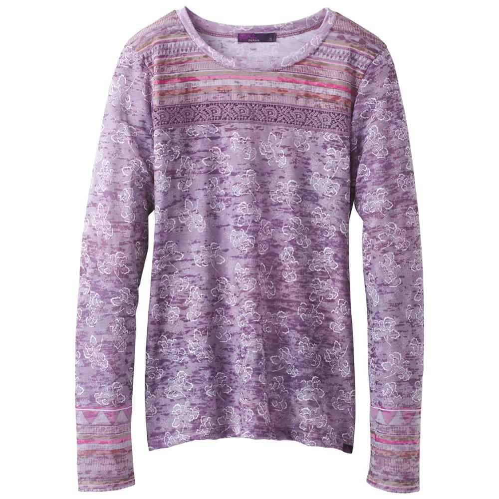 Prana Women's Tilly Long-Sleeve Top - Purple - Size L W23170316