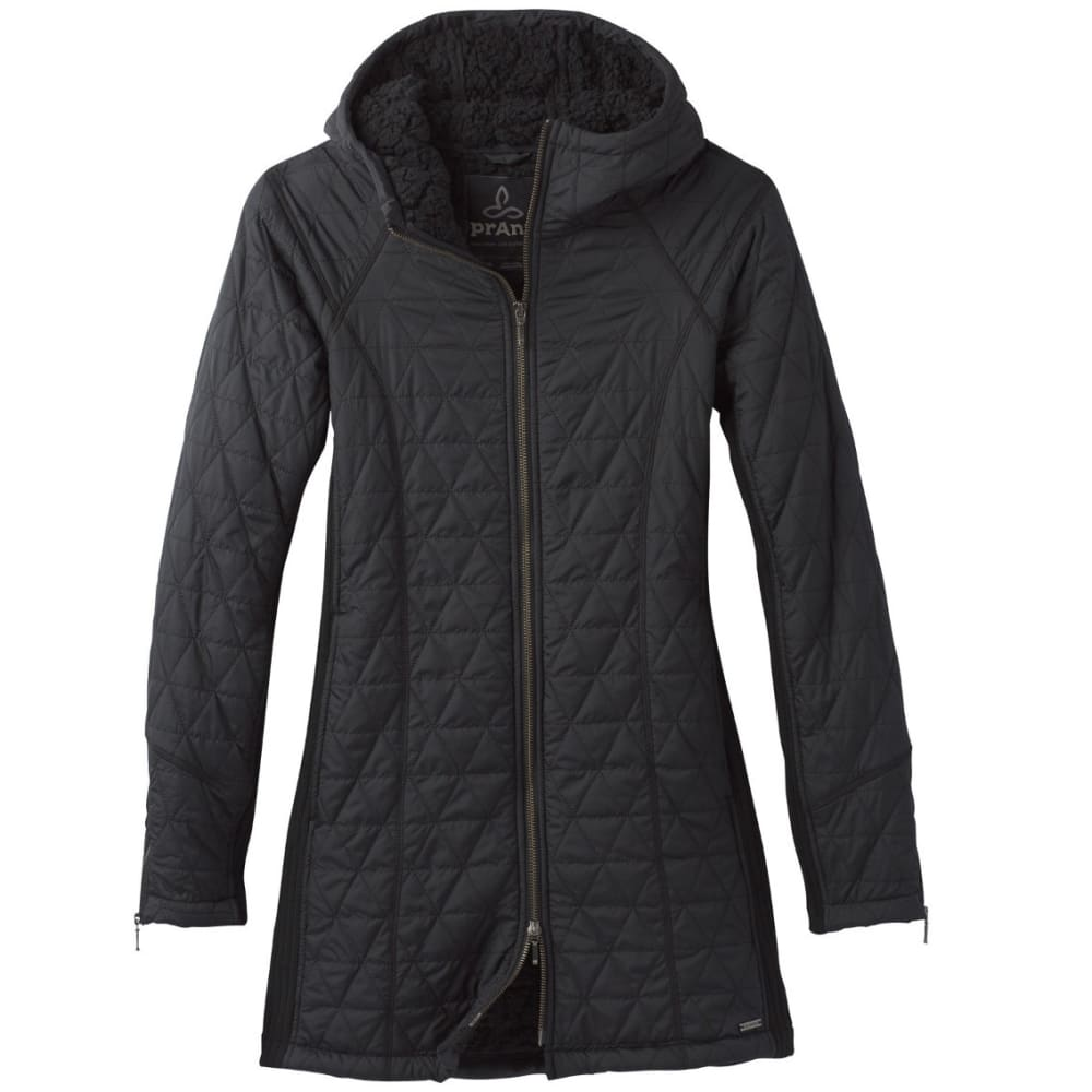 PRANA Women's Diva Long Jacket - BLACK