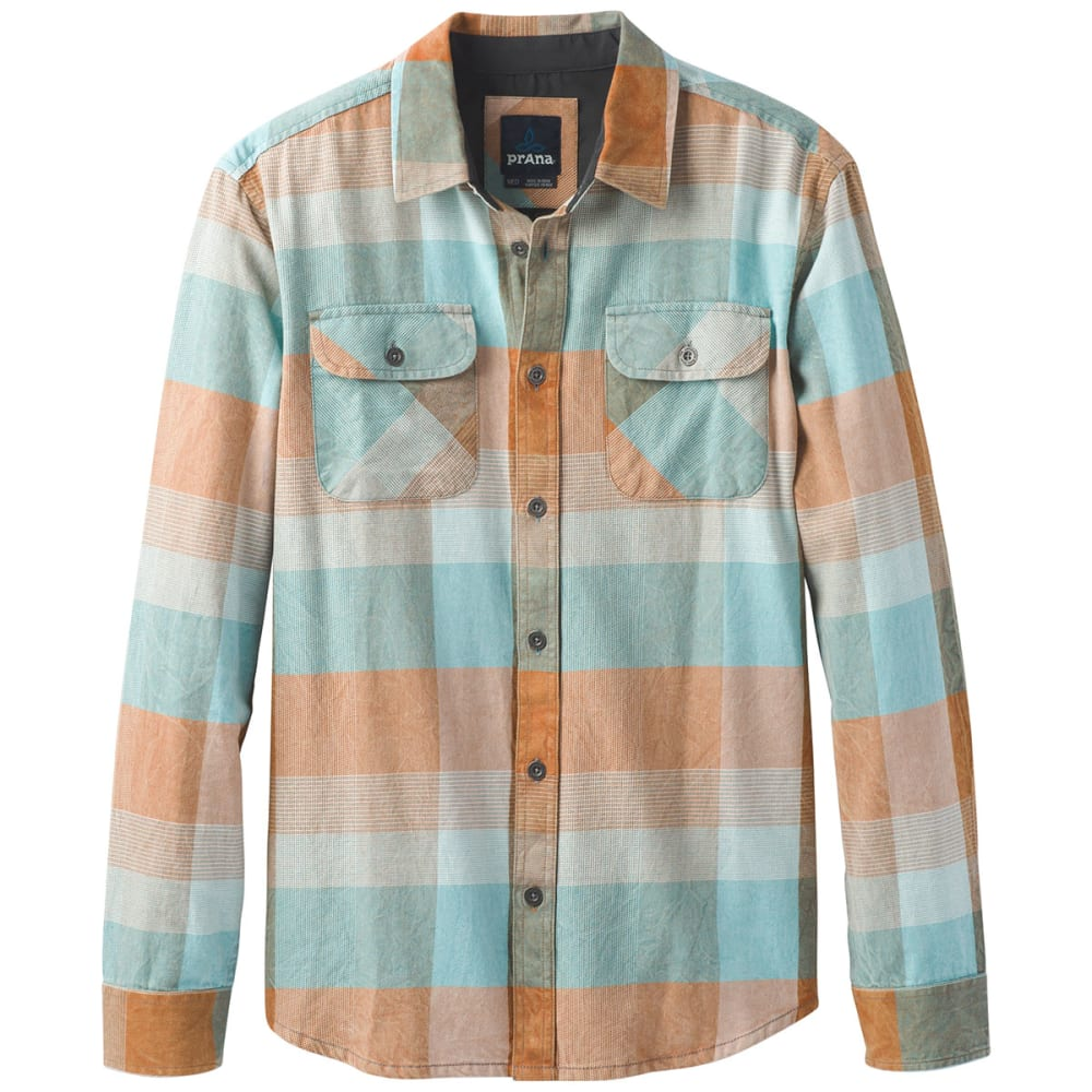 PRANA Men's Lybeck Flannel Long-Sleeve Shirt - ADOBE