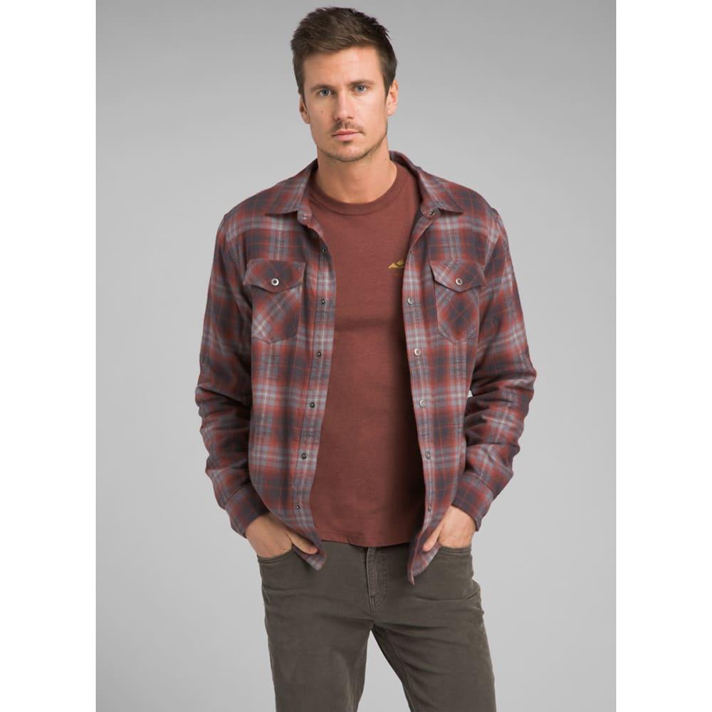 PRANA Men's Asylum Flannel Long-Sleeve Shirt - GRAVEL PLAID