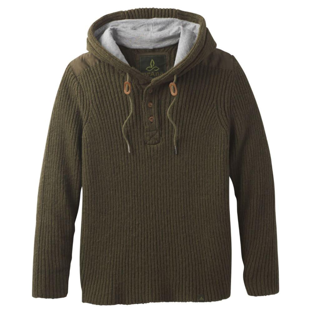 PRANA Men's Hooded Henley Sweater - CARGO GREEN