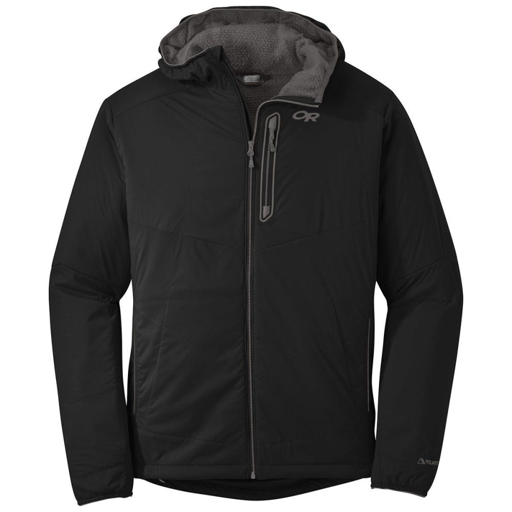 OUTDOOR RESEARCH Men's Ascendant Hoody - BLACK/CHARCOAL-0189