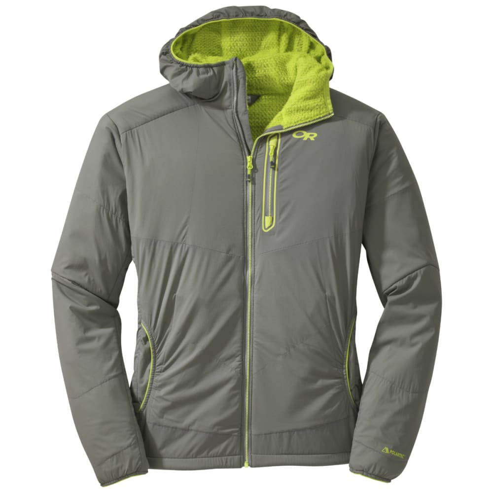 OUTDOOR RESEARCH Men's Ascendant Hoody - 0054-PEWTER/LEMONGRA