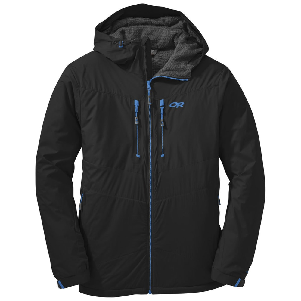 OUTDOOR RESEARCH Men's AlpenIce Hooded Jacket - BLACK