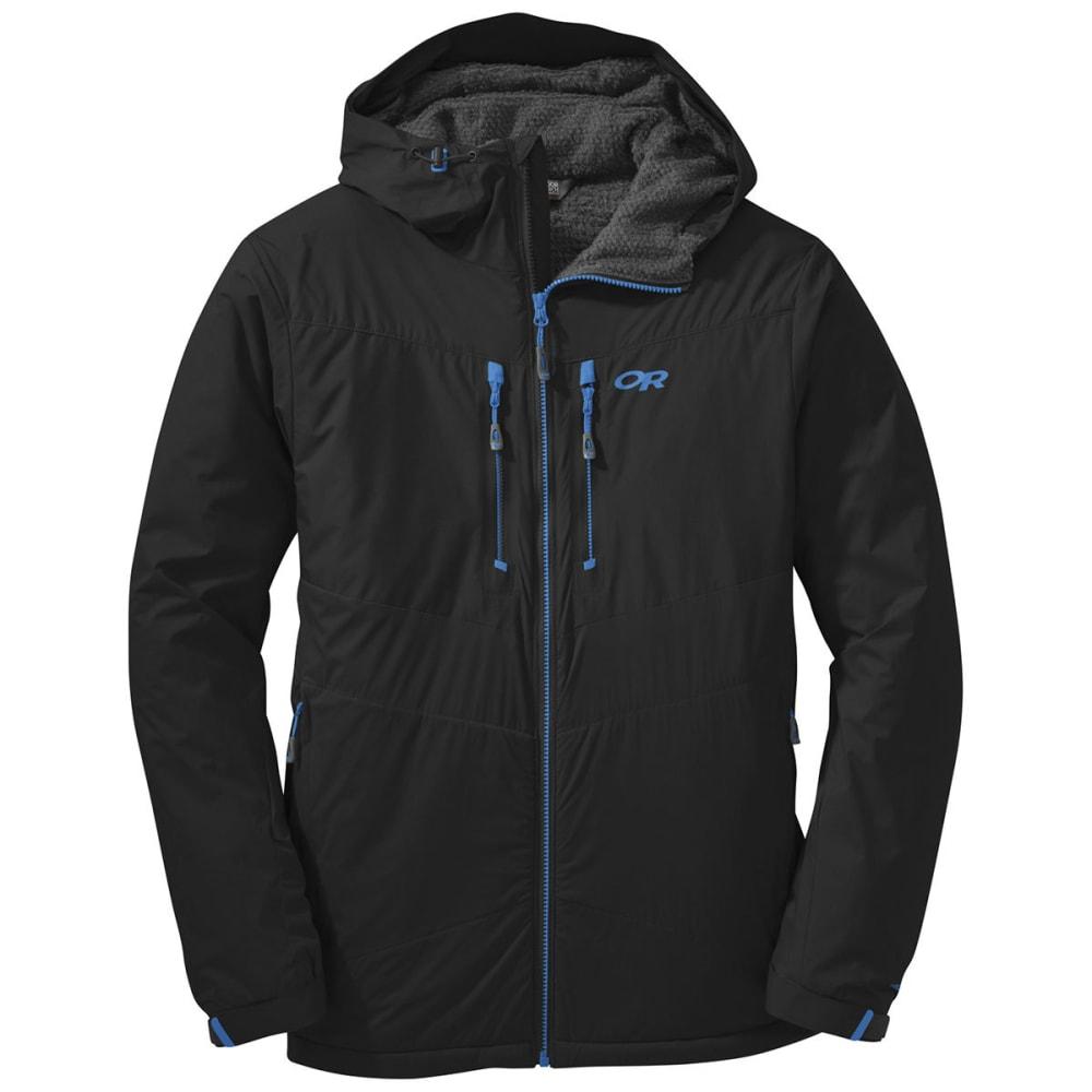 OUTDOOR RESEARCH Men's AlpenIce Hooded Jacket - BLACK
