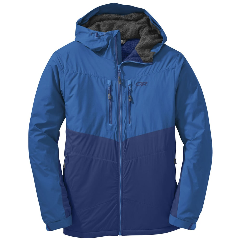 OUTDOOR RESEARCH Men's AlpenIce Hooded Jacket - BALTIC/GLACIER