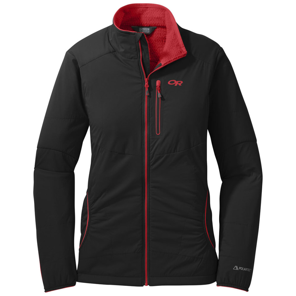 OUTDOOR RESEARCH Women's Ascendant Jacket - BLACK/FLAME