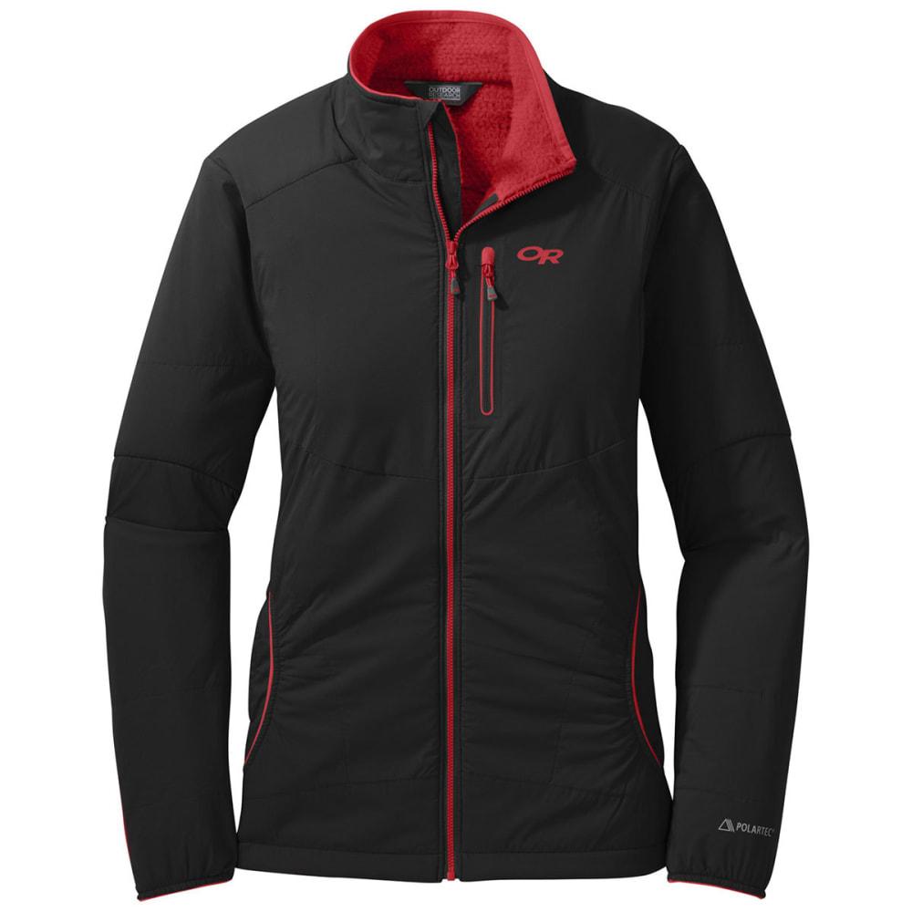 OUTDOOR RESEARCH Women's Ascendant Jacket - BLACK/FLAME